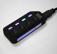 hub usb para laptop al por mayor-Nuevo concentrador USB externo 4 puertos USB 3.0 Hub Velocidad de 5 Gbps para computadora portátil con interruptor de encendido / apagado