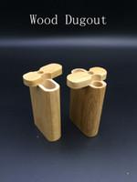 Wholesale Real Cigarettes - Wood Dugout Smoking Pipe Herbal Smoking Box Real Wood Handmade Natural Wood Dugout Fit Cigarette Pipe Glass Pipe Hand Pipes