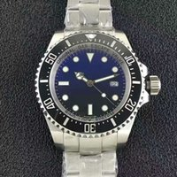 Wholesale Eta Movement Watches - Top Quality AAA Mens waterproof Watch 44mm Blue Ceramic Bezel Sea Dweller Swiss ETA 2836 Movement Automatic Man Watches