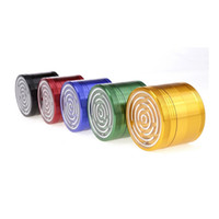 Wholesale spice grinder color resale online - Premium Maze Game Spice Crusher MM Five Color Optional Aluminium Alloy Metal Herb Grinder Piece
