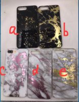 Wholesale Iphone Glossy Case - IMD Bronzing Gold Marble Case for iPhone 7 Plus glossy smooth plating IMD TPU Cover for iPhone 6 6s Plus