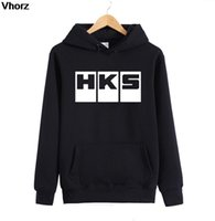 Wholesale Hoodies Cars - Wholesale- Fashion Brand Car Auto HKS Hoodies Men Cotton Sleeve Euro Size Hoodies Tops Tees Man Casual Hiphop Sweatshirts
