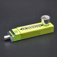 Wholesale Free Gum - Free shipping Very Hidden Chewing Gum Style Metal Herbal Herb Tobacco Grinder Smoking Pipe Grinders Hookah
