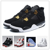 Wholesale Mens Leather Army Boots - Wholesale Men Basketball Shoes Retro 4 IV ROYALTY Man Sports Shoes Men Athletics Cheap Shoes Men Boot Outdoors Mens Size Sneakers 41-47