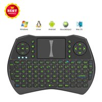 Portable 2.4GHz Mini clavier sans fil Fly Air Mouse Remote Control Game Handgrip Touchpad pour Android TV Box Notebook Tablet PC MXQ Pro