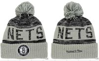 Wholesale Military Style Caps Hats - fashion style newst Brooklyn beanies Hot Sale Cotton Knit Basketball Team net Beanies Hat Striped Cuff Winter Hats For Men football Skullies