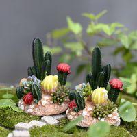 ingrosso miniature di giardino fiabesco-2 pz Mini Totoro Pot Decor Cactus miniature fairy garden moss terrario decor resina artigianato bonsai micro terre resina chaft