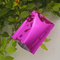 Wholesale Small Foil Bags - 200pcs lot 6x9cm Small Colors Vacuum Bags Open Top Food packaging Heat Seal Aluminum Foil Plain Pocket Pouches