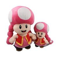 Wholesale Toadette 17cm - 1PCS 17cm Super Mario Toadette Stuffed Plush Doll Children Gift Small Size