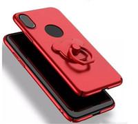 contraportada de oso de peluche al por mayor-Estuche caliente para Iphone X 5.8 '' pulgadas Teddy Bear cubierta trasera ultra delgada con anillo de soporte 5 colores con / sin agujero de círculo