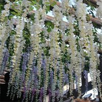Wholesale Chinese Wedding Ideas - Glamorous Wedding Ideas Elegant Artifical Silk Flower Wisteria Vine Wedding Decorations 12 Piece a lot More Quantity More Beautiful
