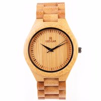 Wholesale Japanese Nude - Natural All Bamboo Wood Watches Top Brand Luxury Men Watch Wth Japanese 2035 Movement For Gift Drop Shipping