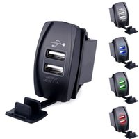 Wholesale Port Toyota - Universal Car Charger USB Charger Socket Waterproof Dual Ports USB Outlet DC 12V 24V 3.1A For Toyota Boat iPhone Samsung SUV ATV