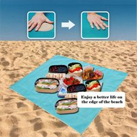 Wholesale Camping Rugs - Summer Beach Mat 200*200cm Sand Free Blanket Portable Outdoor Camping Picnic Blanket Mat Rug Sand Dirt Dust Disappear