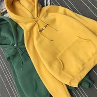 Wholesale Cashmere Hoodies For Women - Women Hoodies Loose Moletom 2017 Men and Female Hoodies Long Sleeve Casual Harajuku Pocket Hoodie for Women Pullover Sweatshirt