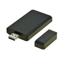 mini sata ssd adaptör toptan satış-Toptan-USB 3.0 MSATA SSD Taşınabilir Mobil Kutu USB3.0 mini SATA Sabit Disk adaptörü mSATA SSD Durumda HDD muhafaza