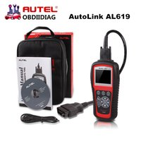 Wholesale Obdii Abs Engine - Original Autel Autolink AL619 ABS SRS + CAN OBDII Code Reader Turn off Check Engine Light clears codes resets monitors