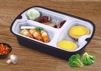 lunchpaket verpackt großhandel-Neue Einweg Lunch Boxen Umwelt Geschirr Multi Funktion Snack Verpackung Fall Hohe Qualität Heißer Verkauf 99fk R
