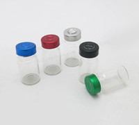 Wholesale Glass Injection Bottles - 100 x 7ml Cosmetic Glass Vials Bottles Jars With Flip Off Cap 7cc Injection Glass Skin Care Bottle