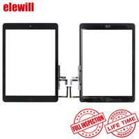 Wholesale For iPad air for iPad Touch Screen Glass Digitizer Original Assembly with Home Button Adhesive Glue Sticker Replacement A1474 A1475