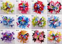 "Wholesale Korker Hair Accessories - Baby head wear 4.5"" spike boutique hair clips bows flower korker kids girl gift headwear accessories"