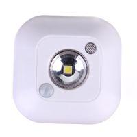 mini sensor de luz al por mayor-Mini Inalámbrico de inducción Dual PIR Sensor de Movimiento Infrarrojo Sensor de Cuerpo de Techo Sensor de Luz Nocturna Batería Porche Lámpara del Gabinete Porche