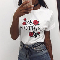 Wholesale Floral Pocket T Shirt - 2017 women's t-shirt kawaii rose n pocket t shirt summer fashion brand new Clothing tops women t shirts korean style tees NV52 RF