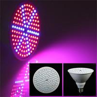 e27 led azul al por mayor-Los chips llevados 15W E27 SMD 126 crecen la planta de las luces LED crecen la luz ROJA + BLANCA hidropónica 110v / 220v