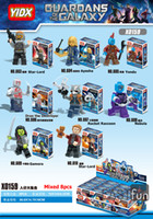 Dc Marvel Figures D'action Pas Cher-Haute qualité 8pcs Gardiens de Galaxy Marvel DC Building Blocks Groot Super Heroes Figurines d'action Ronan Gamora Drax Destroyer Nebulle