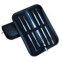 siyah nokta çıkarıcı akne temizleyici iğne toptan satış-5 Adet Siyah Nokta Sivilce Leke Çıkarıcı Remover Araçları Siyah Kafa Akne Remover İğne Yüz Aracı Kiti Seti Makyaj Cilt Bakım Ürünü DHL Ücretsiz