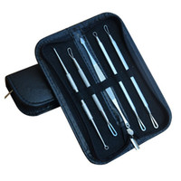 piel de agujas al por mayor-5 Unids Blackhead Pimple Blemish Extractor Remover Herramientas Cabeza Negro Removedor del acné Aguja Kit de herramientas faciales Set Maquillaje Producto de cuidado de la piel DHL libre