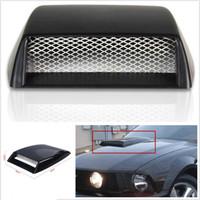 Wholesale Car Bonnet Scoops - Autos Car Decorative 3D Simulation Air Flow Intake Hood Scoop Bonnet Vent Cover Free shipping