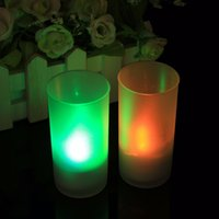 Wholesale Electronic Candle Light Sensor - LED Electronic Candle Night Light Sound Sensor Control Flicker Flameless Valentine Decor Home Party Decoration 1Pcs
