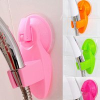 Wholesale Bathroom Over Head - Wholesale- Portable Home Bathroom Shower Head Holder Wall Suction Vacuum Cup Wall Mount Adjustable Shower Faucet Head Holder