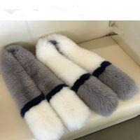Wholesale Real Fox Fur Scarf Collar - Wholesale- Best 120cm 100cm Real Natural Fox Fur Collar Scarves