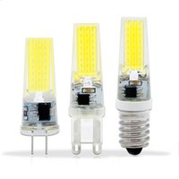Wholesale G9 Led Bulb 12v - 3W 6W 9W COB LED Bulb E14 AC DC 12V 220V Mini Lampada LED G4 G9 COB 360 Beam Angle Replace Halogen Bulb Chandelier
