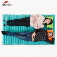 Wholesale Mattress Double Size - Wholesale- Naturehike Double Inflatable Sleeping Pad Outdoor Camping Packed Size Lightweight Moldable Inflate Deflate Folding Picnic Mat