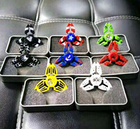 super heróis da novidade venda por atacado-Super Herói Fidget Spinner Liga Mão Spinners Capitão America Ironman CNC EDC Dedo Dedo Ansiedade Rollover Novidade HandSpinners Brinquedos DHL