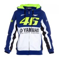 Wholesale Woman S Motorcycle Jacket - Free shipping 2016 brand new moto gp for yamaha brand vr 46 motorcycle sweater pullover casual hooded cotton men's sweater