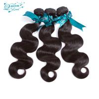 Wholesale Real Human Hair Bundles - Peruvian Virgin Hair Body 3 Bundles 8A Grade Virgin Unprocessed Human Hair Body Wave Peruvian Free Shipping 100g Real Peruvian Bundles