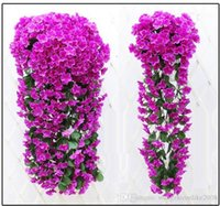 Wholesale Violet Movie - Simulation hydrangea violet hanging flower of bracketplant of cane wisteria series fake flowers wedding decoration simulation flower vine