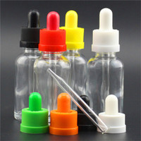Wholesale Bottle Caps Wholesale Prices - Cheap Price! Glass Bottles e liquid bottles 5ml 10ml 15ml 20ml 30ml 50ml 100ml Glass Dropper Bottles with Childproof Cap