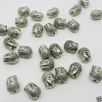 Wholesale Antiqued Silver 8mm - 16pc Antiqued Tibetan silver Buddha Head Loose beads 10.5MM x 8MM