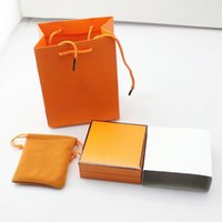 Wholesale Necklace Box Brand - Branded famous brand H bracelet and necklace box set with original Brand bags jewelry gift box free shipping