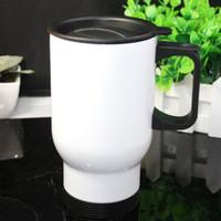 Wholesale Coffee Spoons Porcelain - Vehicle Water Cup Stainless Steel Belt Handle And Cover Multi Function Coffee Milk Tea Mug Hot Sale 14 5mt J