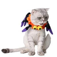 Wholesale DHL Shipping Pet Supplies Halloween Ornaments Halloween Spiderman Neck Set Elizabeth Protecting Ring Dog Cats Pet Collar