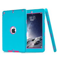 Hybride Armor Robot Case pour Ipad Air 3 en 1 Silicone + plastique Defender Shockproof Housse de protection pour ipad mini 4 ipad air 2