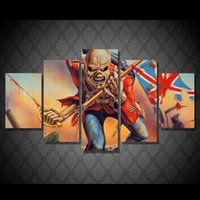 Wholesale 5 Set Framed HD Printed Skull Art Movie Picture Wall Art Canvas Print Decor Poster Canvas Oil Painting