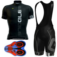 Wholesale Bibs Pad Gel - 2017 Ale Black Bike Wear Cycling Jersey + 9D Gel Padded Bib Shorts Pro Team Cycling Clothing Size XS-4XL Maillot Ciclismo