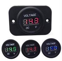 LED Digital Display Panel Auto Voltmeter Motorrad Volt Meter Red Blue Green Lights Guage 6V - 30V Auto Boot RV Zubehör